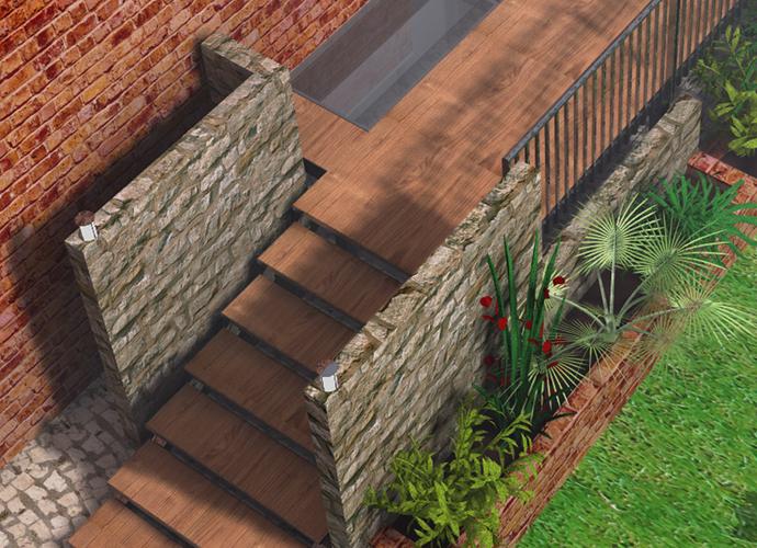Progetto di una pedana per un giardino - Pedana da giardino ...
