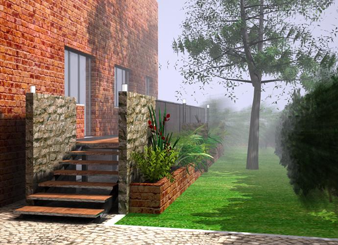Progetto di una pedana per un giardino - Progetto per giardino ...
