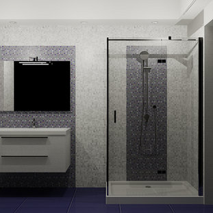 Elegant sanitari gsi serie modo box doccia arblu serie - Montaggio piastrelle bagno ...